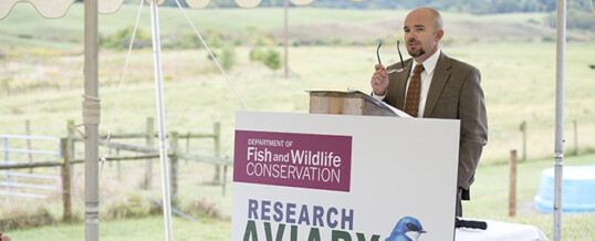 William Hopkins receives Mitchell A. Byrd Award for outstanding achievement in ornithology